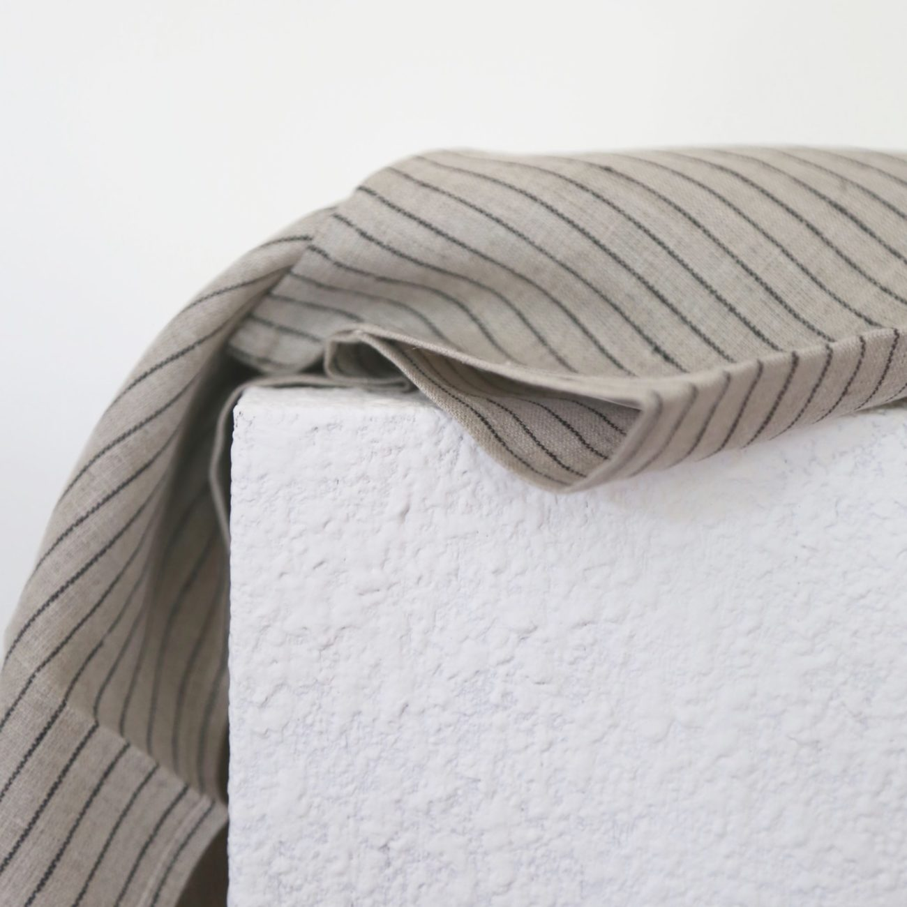 Linen Kitchen Cloth, Classic Stripe