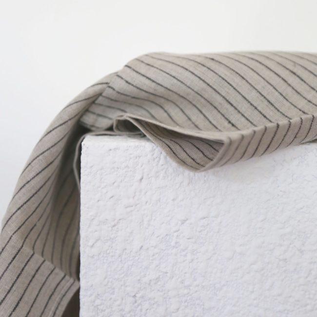 Linen Kitchen Cloth, Classic Stripe