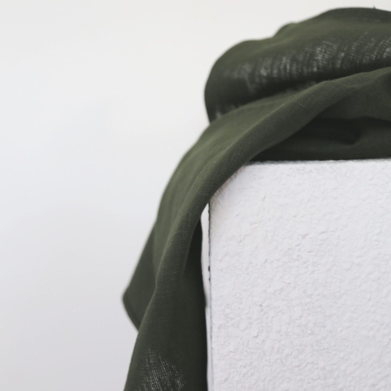 Thick Linen Kitchen Cloth, Forest Green
