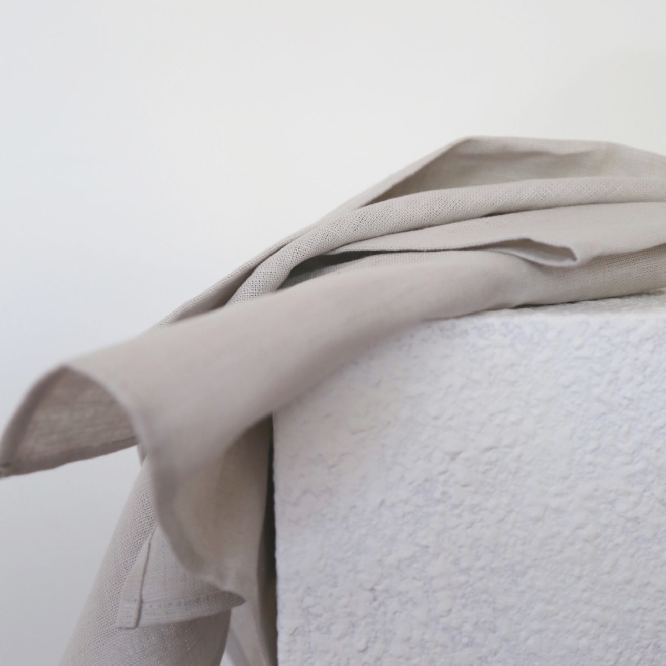 Thick Linen Kitchen Cloth, Soft Taupe