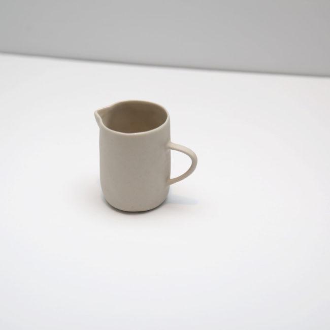 Stoneware Creamer, Soft White