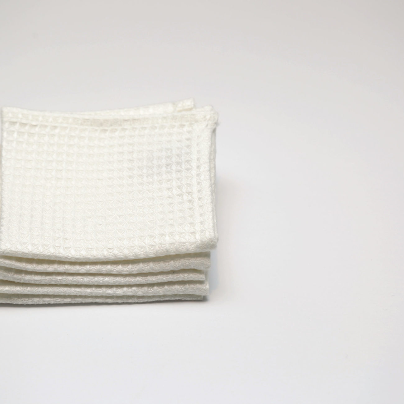 Small Linen Wash Cloth, White