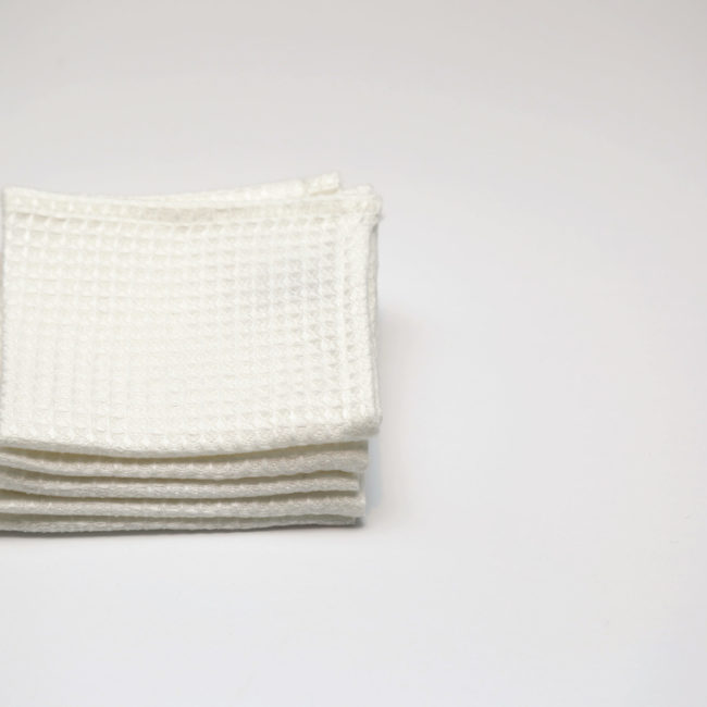 Small Linen Wash Cloth, White