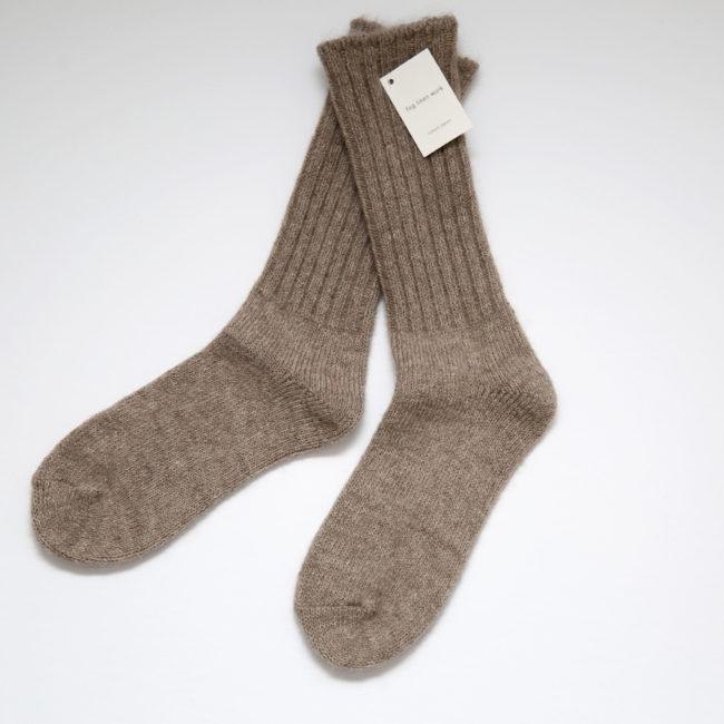 Mohair Socks, Light Brown