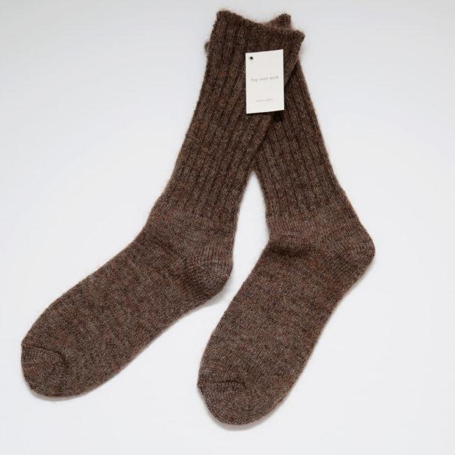 Mohair Socks, Brown
