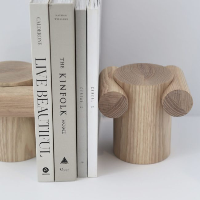 Iconic Column Bookends, Ash