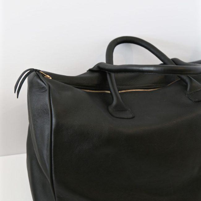 Luxury Leather Travel Bag, Black