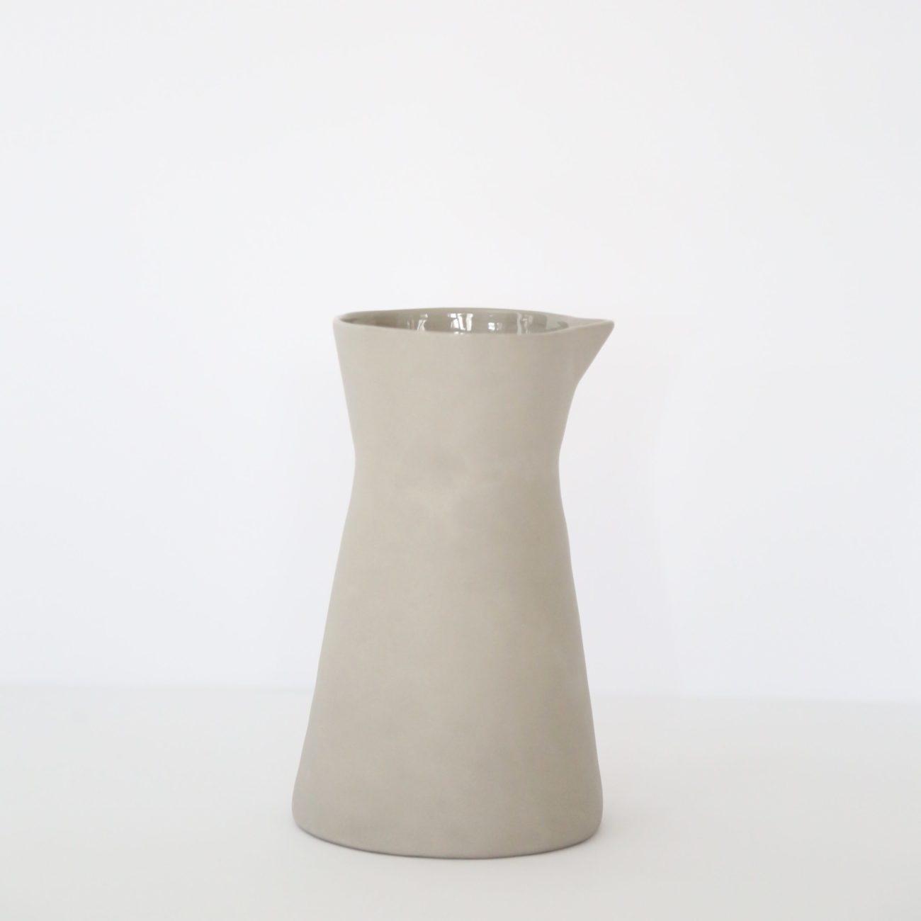 Stoneware Carafe, Putty