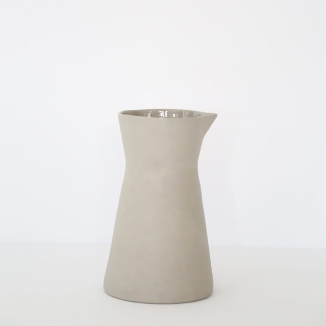 Stoneware Carafe, Putty