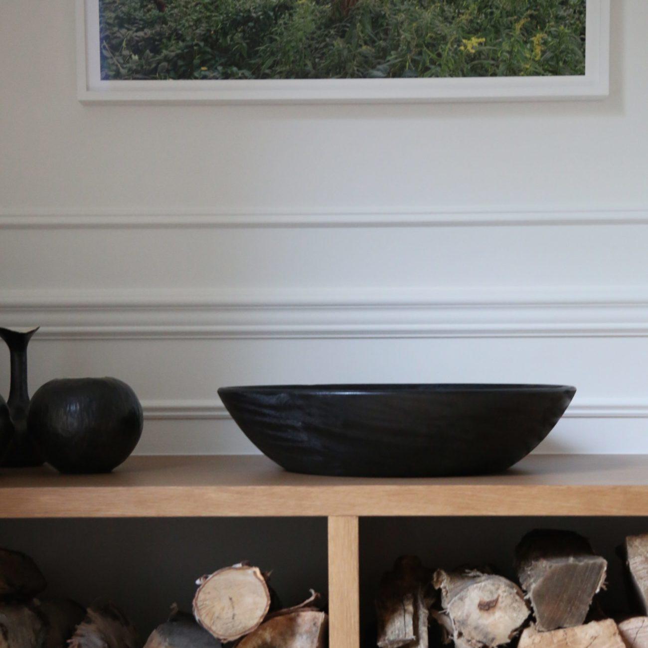 Oversized, Black Mango Wood Bowl