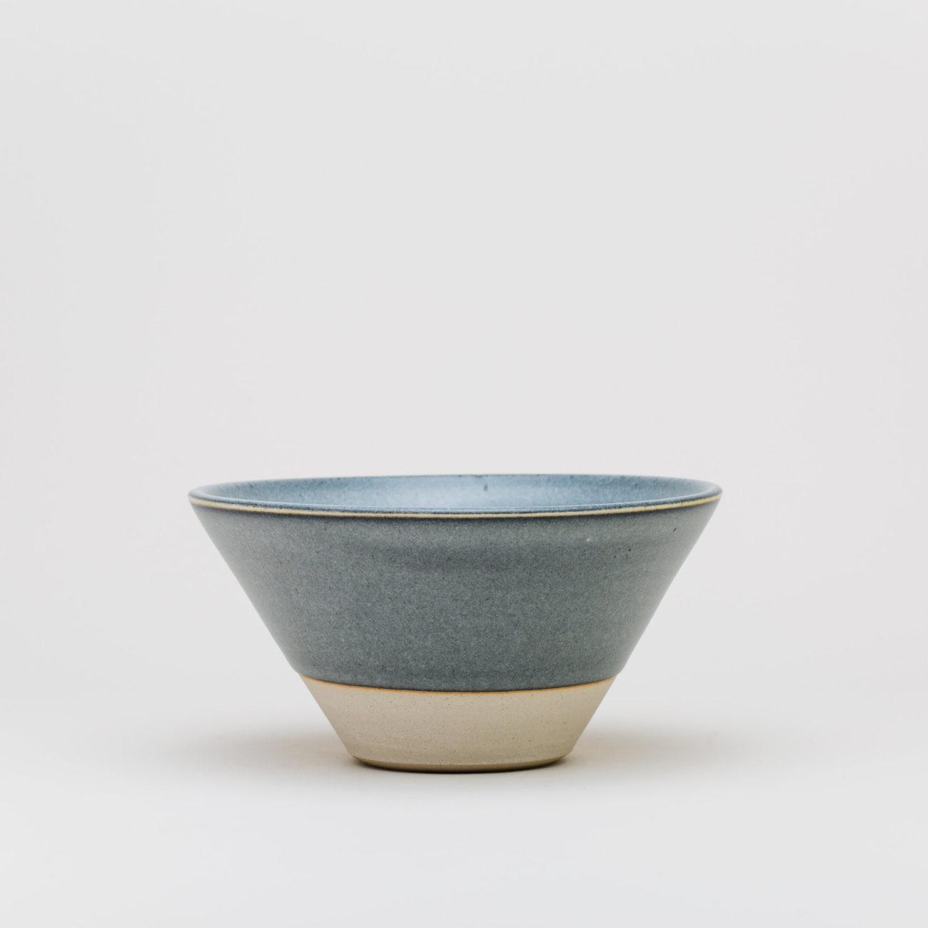 Large Ceramic V Bowl, Ash Matte