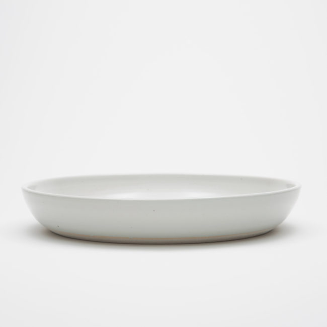 Large Ceramic Round Plate, White