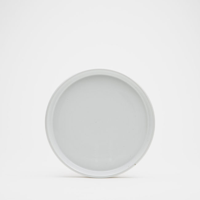 Small Ceramic Dinner Plate, White