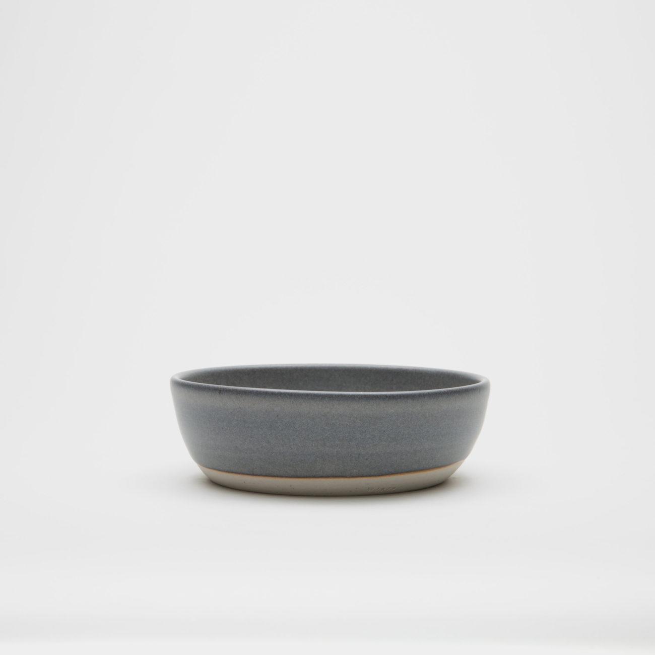 Small Round Ceramic Plate, Ash Matte