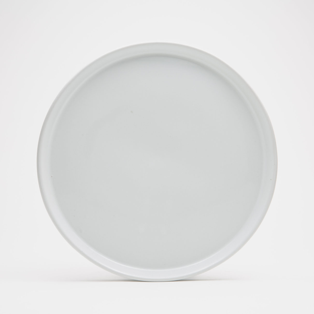Large Ceramic Dinner Plate, White