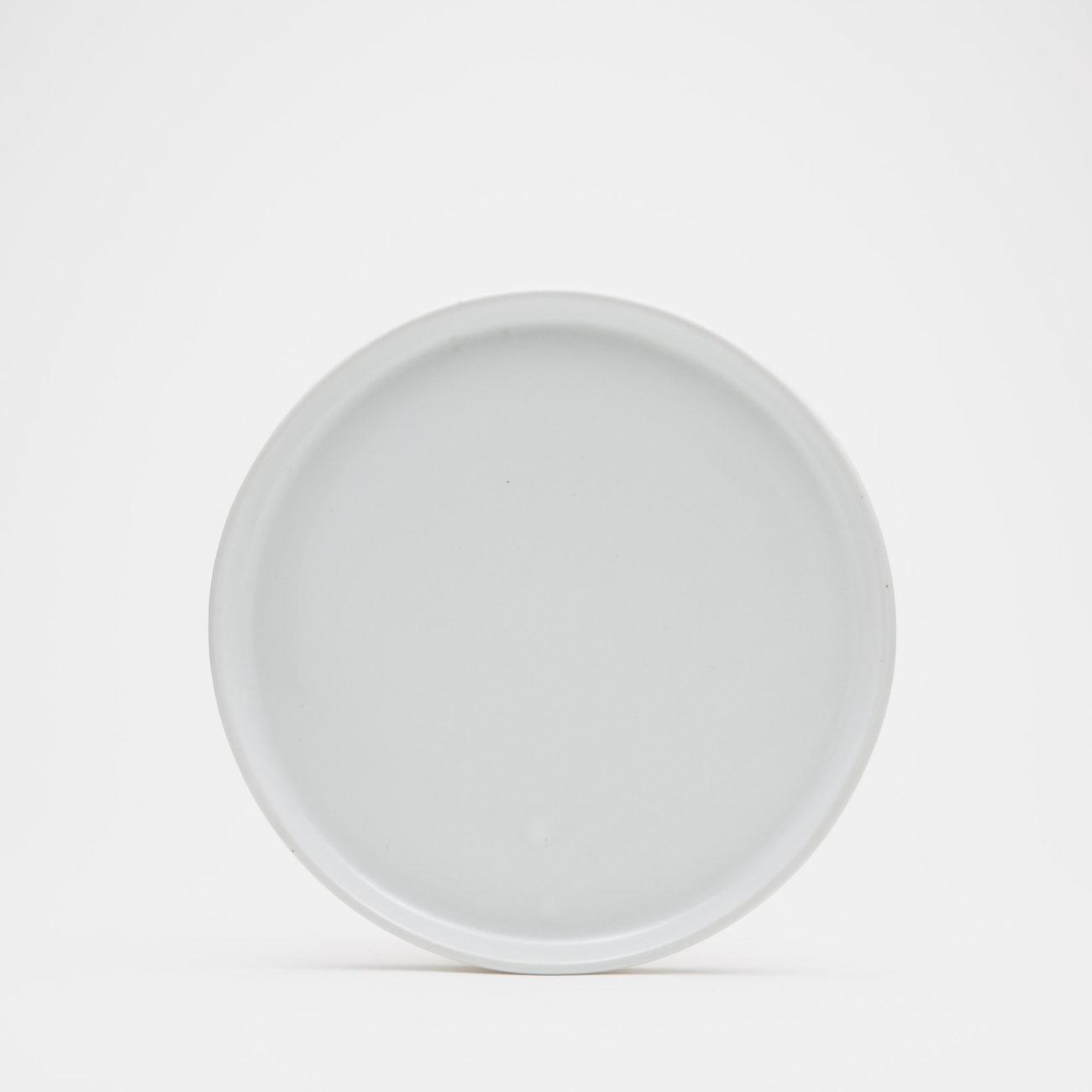 Medium Ceramic Dinner Plate, White