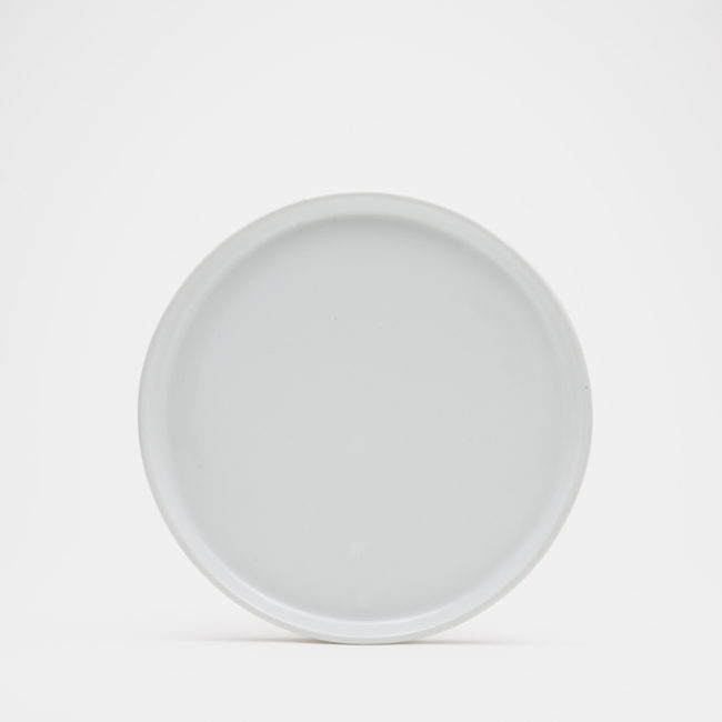 Medium Ceramic Dinner Plate, White