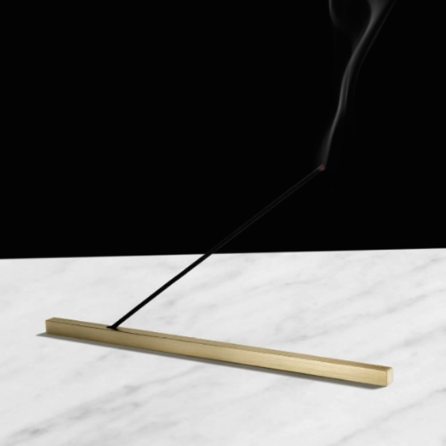 Linea Brass Incense Holder
