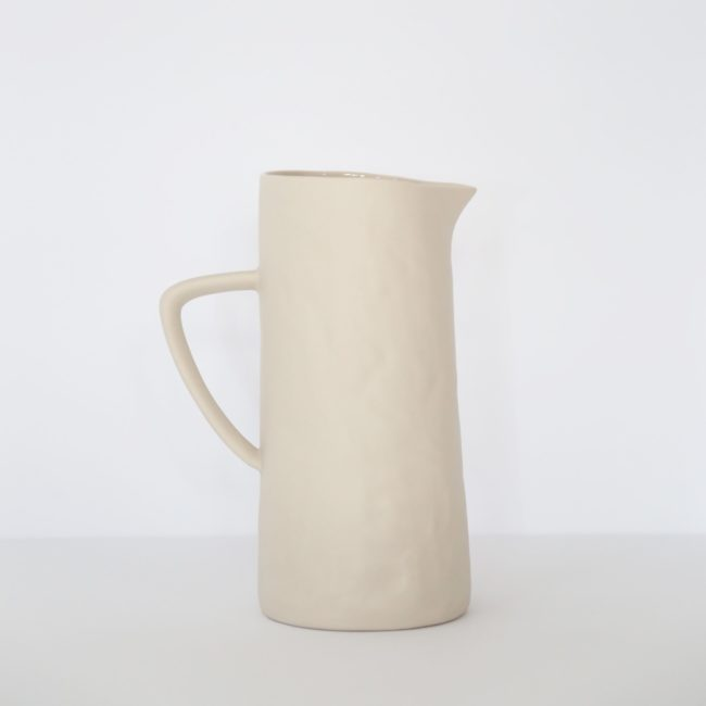 Stoneware Pitcher, Natural
