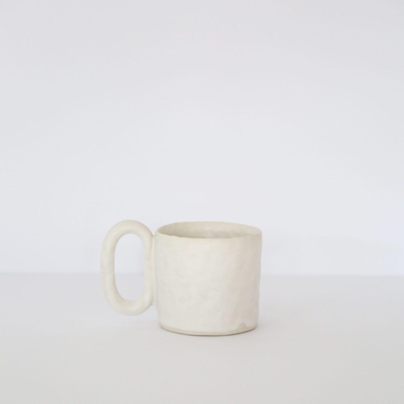Large Ceramic Mug, Warm White