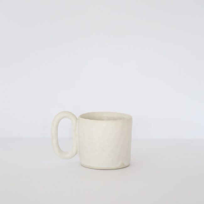 Large Ceramic Mug, Warm White