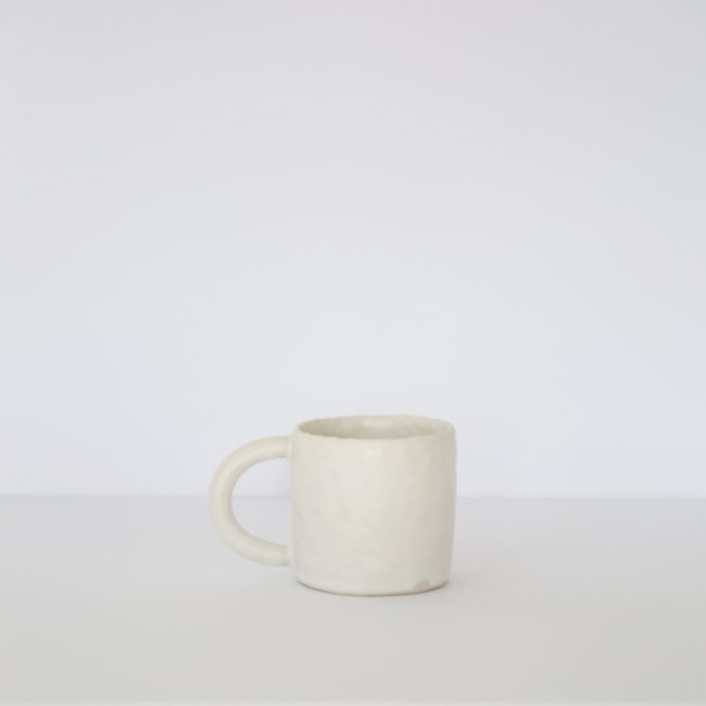 Medium Ceramic Mug, Warm White