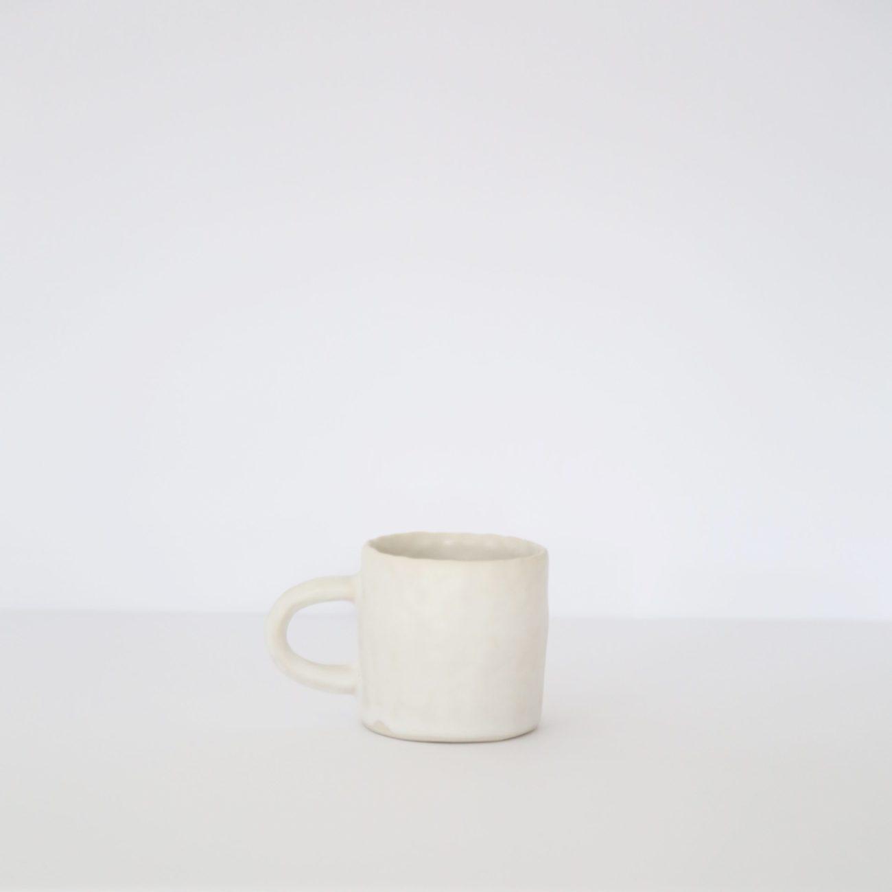 Small Ceramic Mug, Warm White