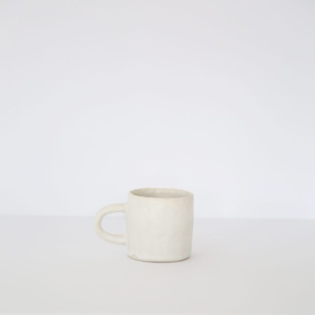 Small Ceramic Mug, Warm White