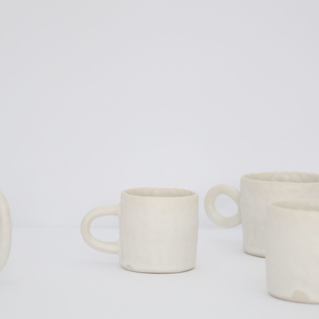 Extra Large Ceramic Mug, Warm White