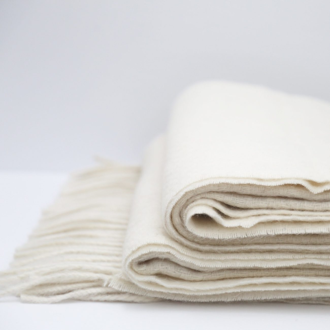 Alpaca and Wool Oversized Textured Throw, Ivory