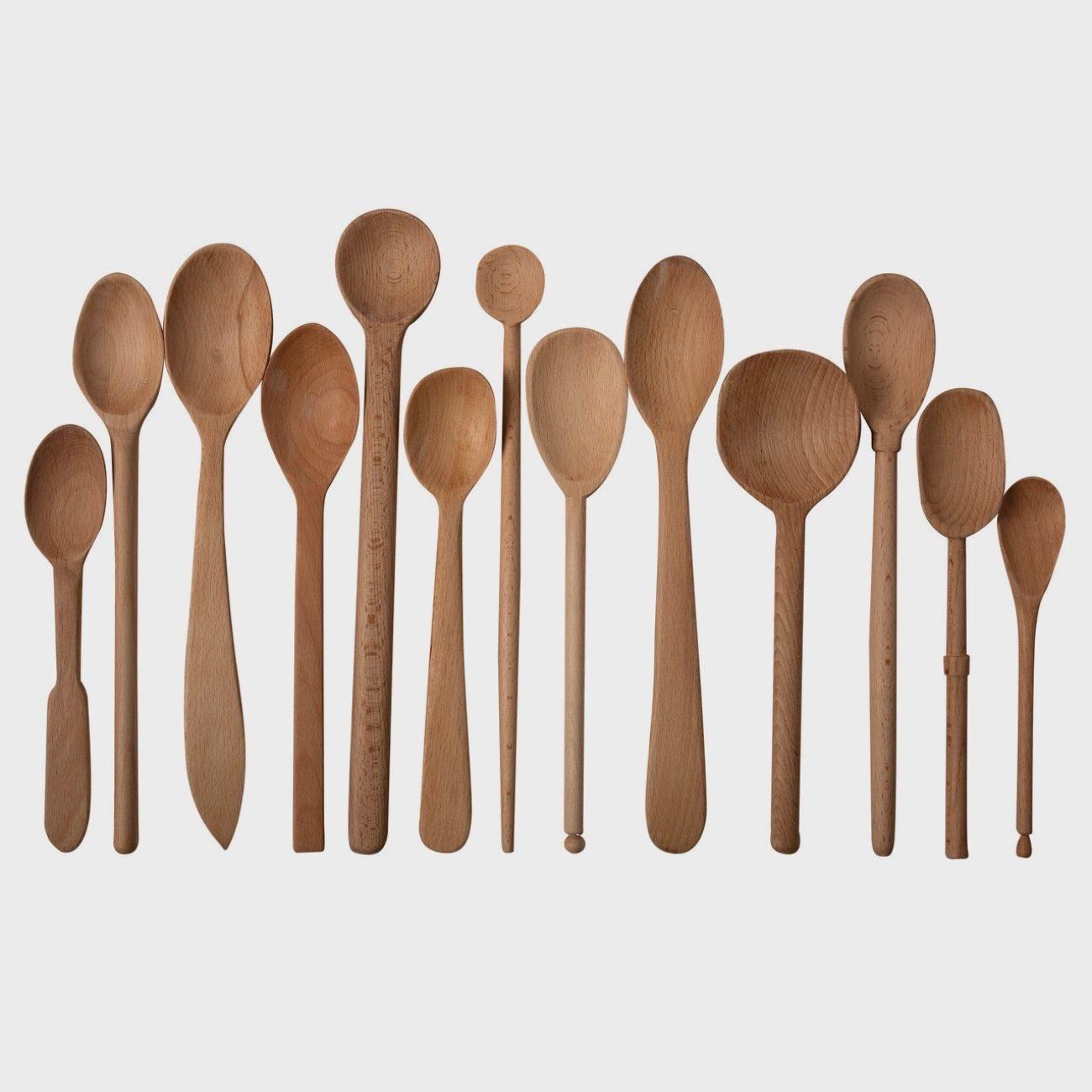 Bakers Dozen Large Wooden Spoons