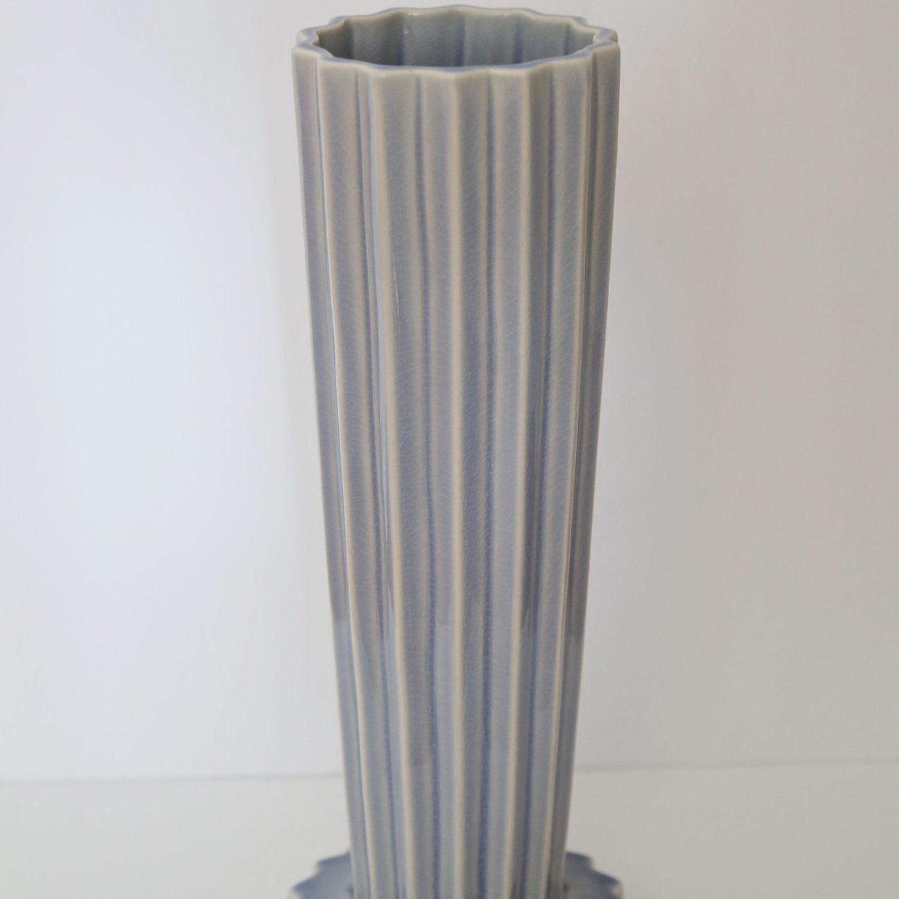 Tall Antique Blue Vase